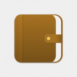 HTMLとCSSで手帳アイコンを書いてみました。